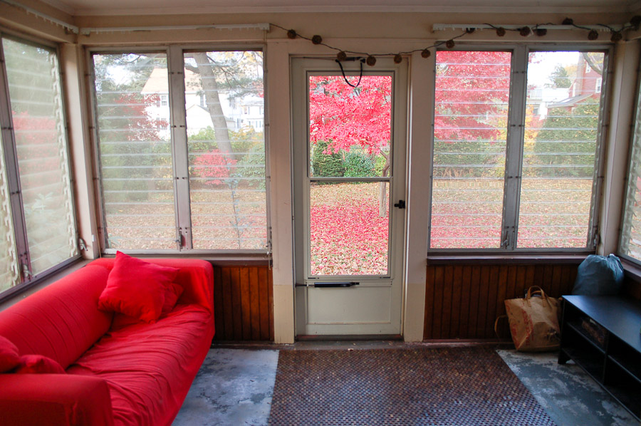 The old sunroom.